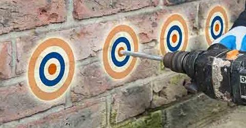 Forer trous injecter murs