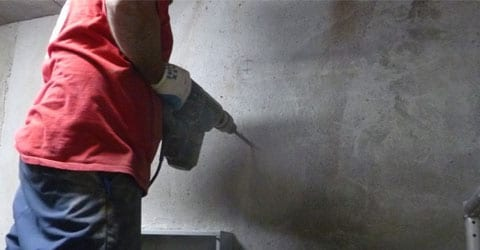 problèmes d'humidité - forer murs