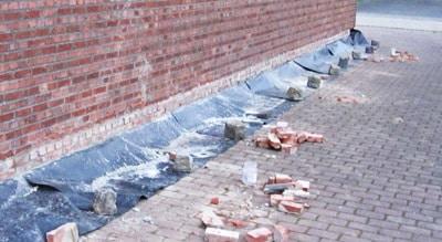 barrière contre l'humidité placée dans les murs
